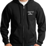 Throttle Is Power – Zippered Front Hoodie